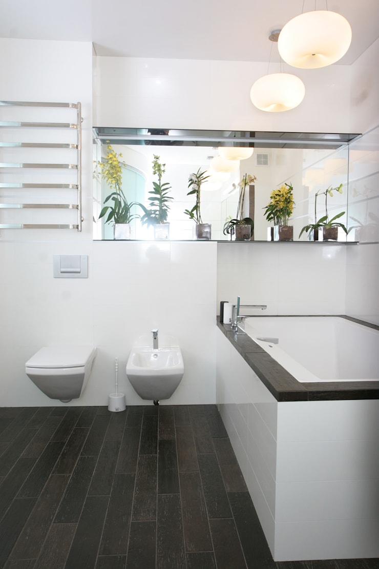 """Дизайн квартиры """"Дом звездочета"""" : Ванные комнаты в . Автор – Samarina projects"""