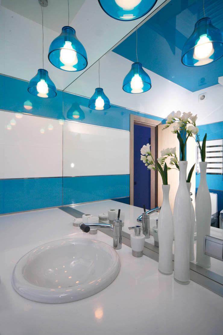 """Дизайн квартиры """"Космос"""": Ванные комнаты в . Автор – Samarina projects, Минимализм"""