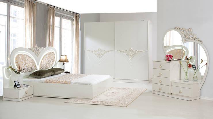 ERONUR MOBİLYA – abide yatak odası takımı: klasik tarz tarz Yatak Odası