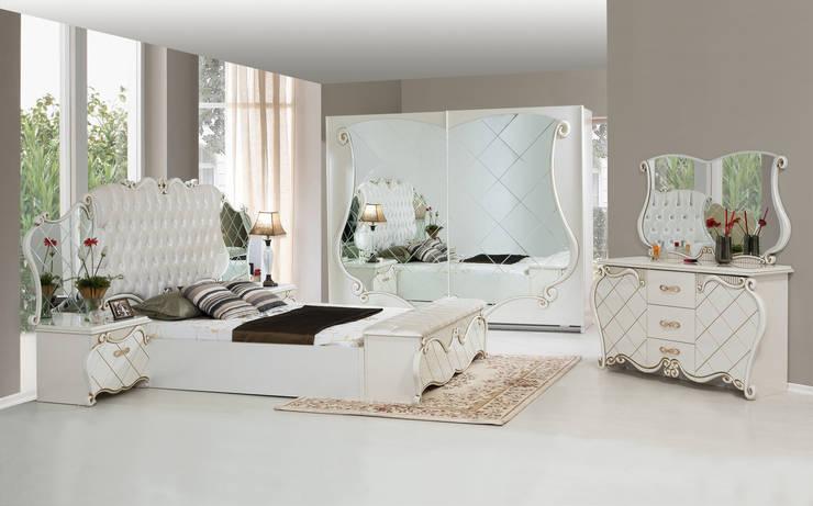 ERONUR MOBİLYA – şehrazat yatak odası takımı: klasik tarz tarz Yatak Odası