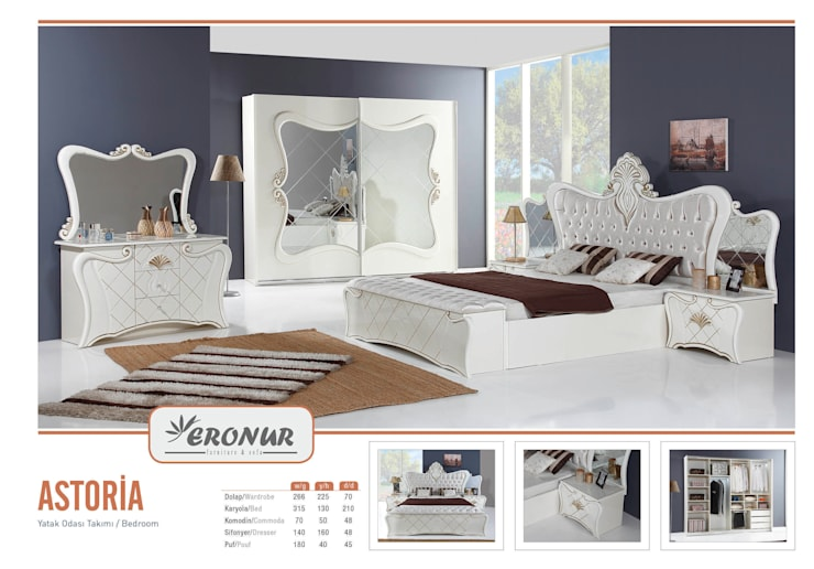 ERONUR MOBİLYA – yatak odası takımları: klasik tarz tarz Yatak Odası