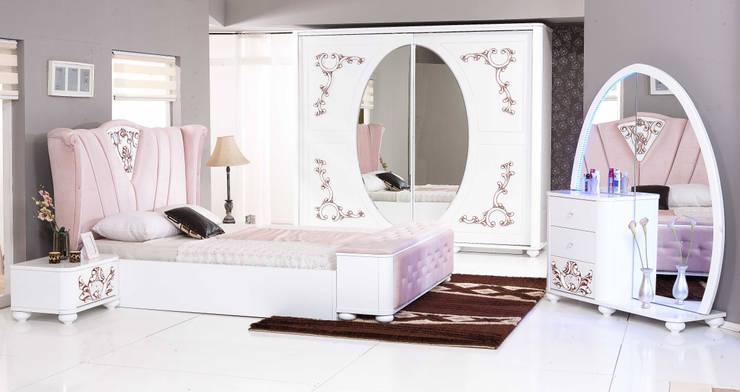 ERONUR MOBİLYA – taçmahal yatak odası takımı: klasik tarz tarz Yatak Odası