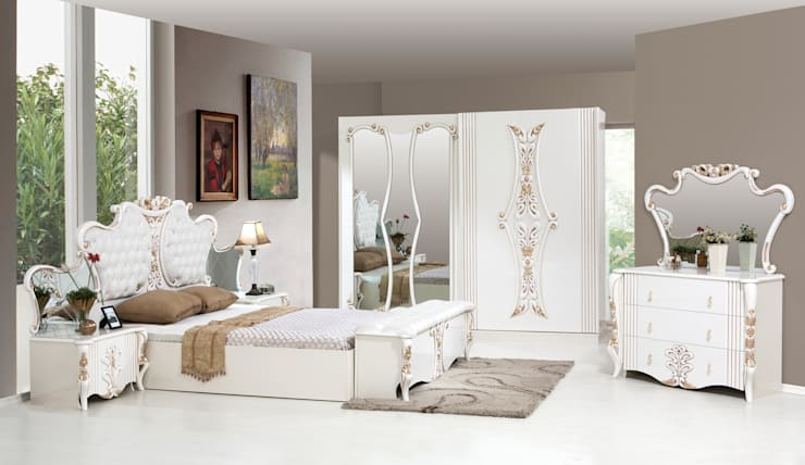 ERONUR MOBİLYA – afrodit yatak odası takımı: klasik tarz tarz Yatak Odası