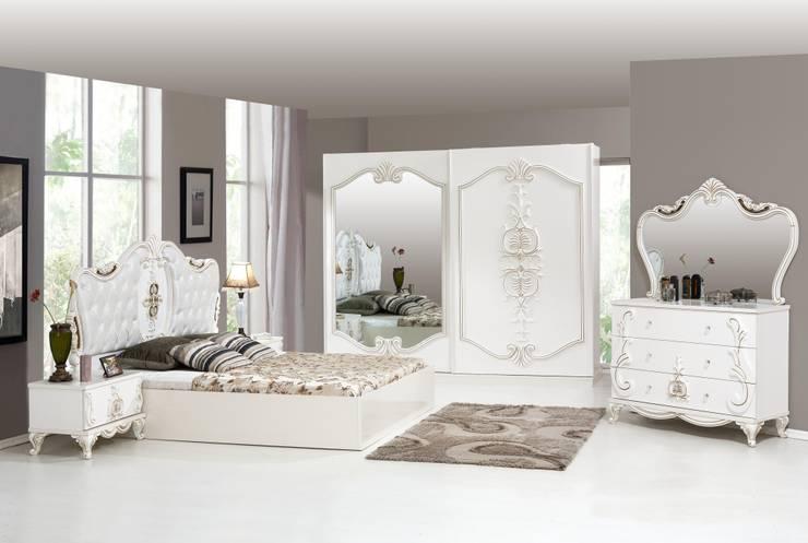ERONUR MOBİLYA – atlantis yatak odası takımı: klasik tarz tarz Yatak Odası