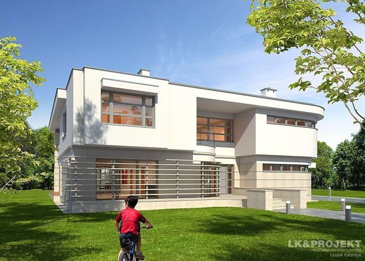 LK&907: styl , w kategorii Domy zaprojektowany przez LK & Projekt Sp. z o.o.,Nowoczesny