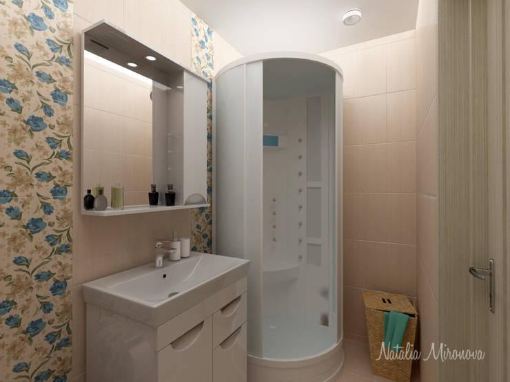 Пастельный шарм: Ванные комнаты в . Автор – Наталия Миронова