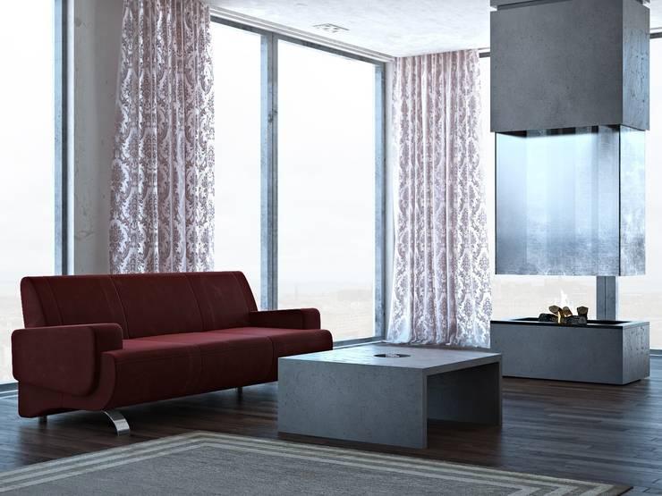 Stolik Quadra: styl , w kategorii Salon zaprojektowany przez Bettoni