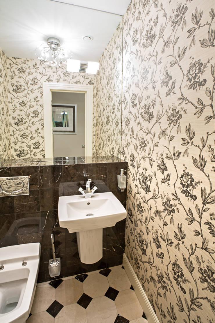 Квартира на Ломоносовском: Ванные комнаты в . Автор – Надежда Каппер