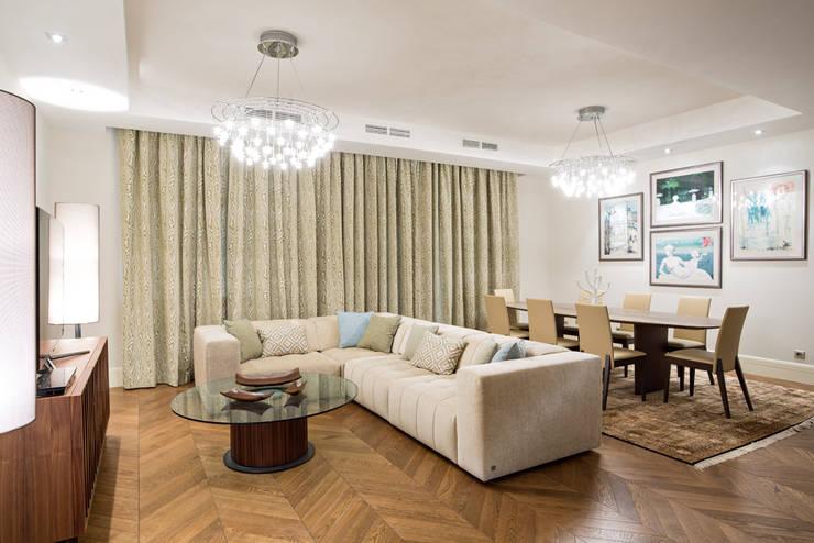 Квартира на Ломоносовском: Гостиная в . Автор – Надежда Каппер