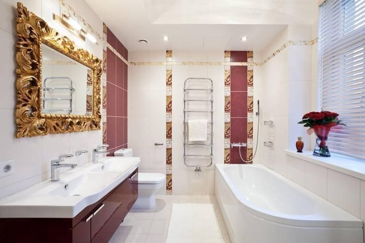 Квартира на Мичуринском: Ванные комнаты в . Автор – Надежда Каппер