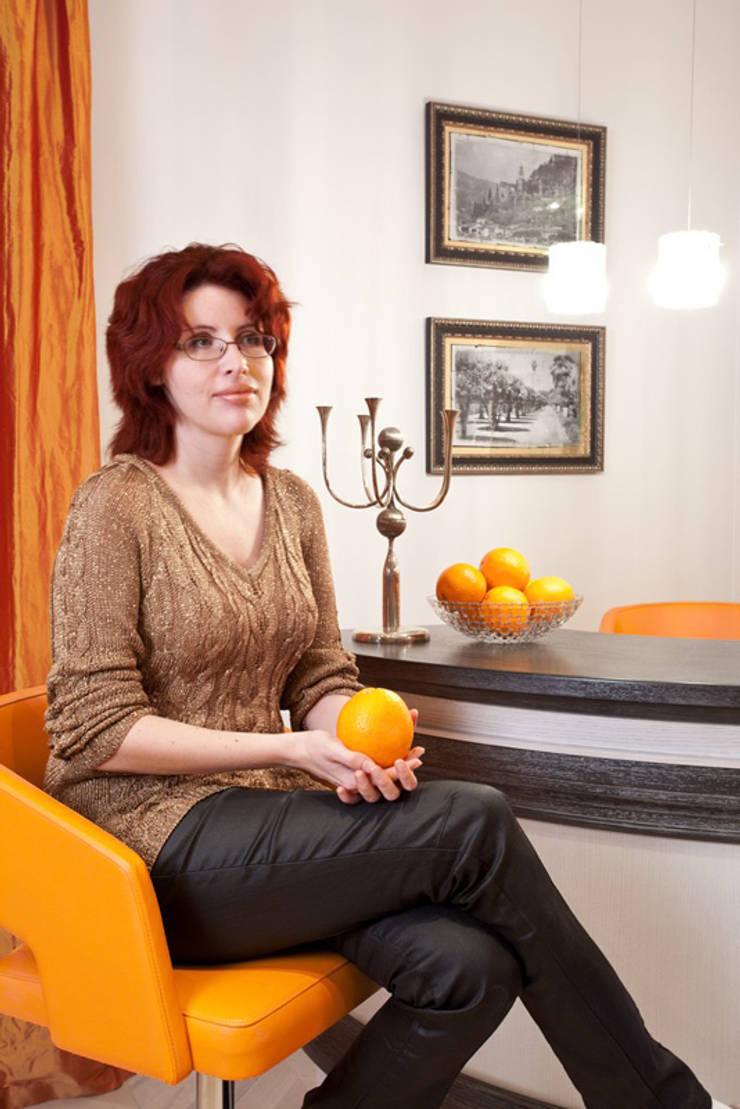 Квартира на Мичуринском: Гостиная в . Автор – Надежда Каппер