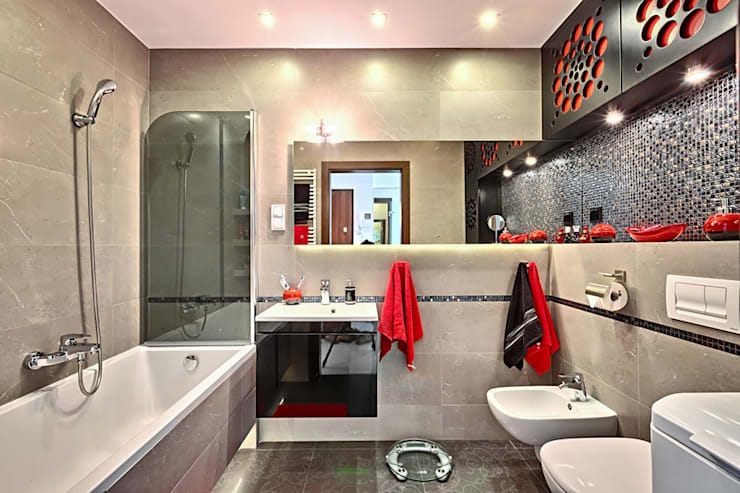 Meble łazienkowe na wymiar - 3TOP: styl , w kategorii  zaprojektowany przez 3TOP,Nowoczesny