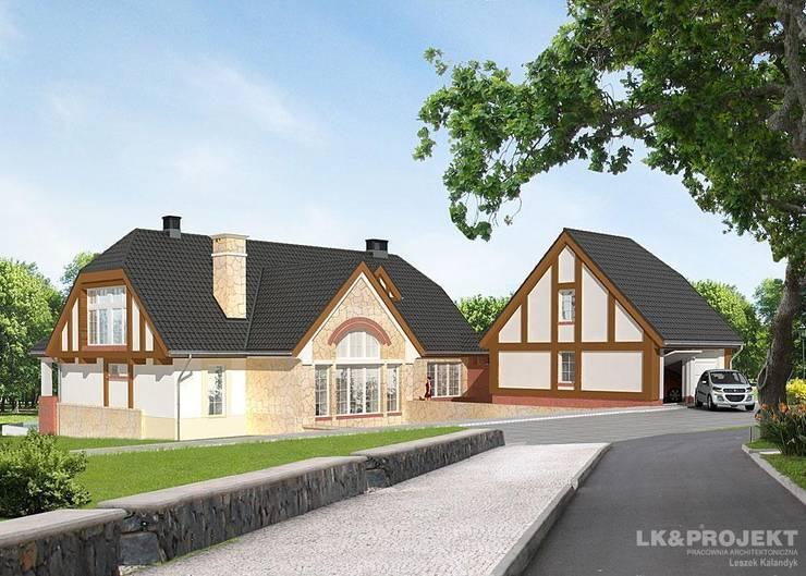 LK&700: styl , w kategorii Domy zaprojektowany przez LK & Projekt Sp. z o.o.,