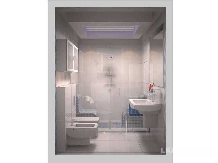 LK&700 łazienka: styl , w kategorii Łazienka zaprojektowany przez LK & Projekt Sp. z o.o.,
