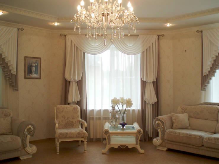 Salas / recibidores de estilo  por STUDIO INTERIOR DESIGN DI ELENA SHTURBABINA