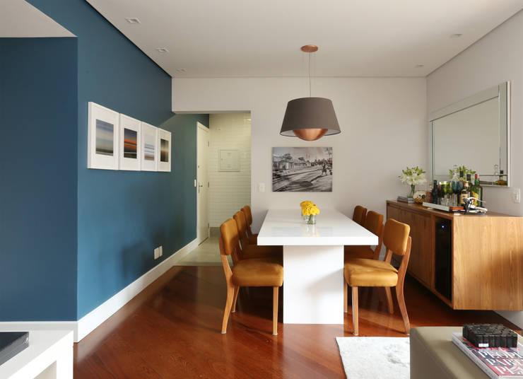 Apartamento R|C: Salas de jantar  por Now Arquitetura e Interiores