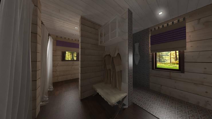 Гостевой домик в стиле Прованс: Ванные комнаты в . Автор – Artscale