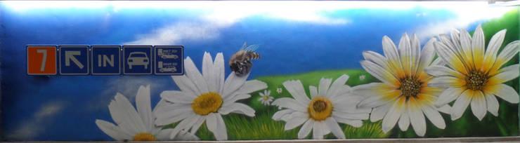 Graffiti muurschildering thema natuur:  Winkelcentra door Mooie graffiti