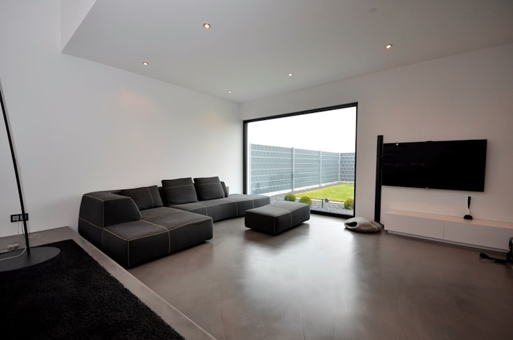 Projekty,  Salon zaprojektowane przez lc[a] la croix [architekten]