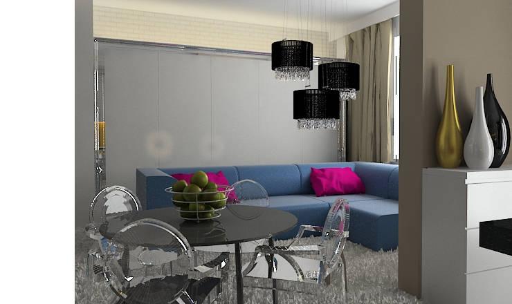 Salones de estilo ecléctico de Projektowanie wnętrz Berenika Szewczyk Ecléctico