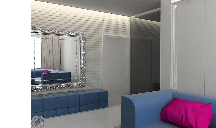 Eclectic style corridor, hallway & stairs by Projektowanie wnętrz Berenika Szewczyk Eclectic