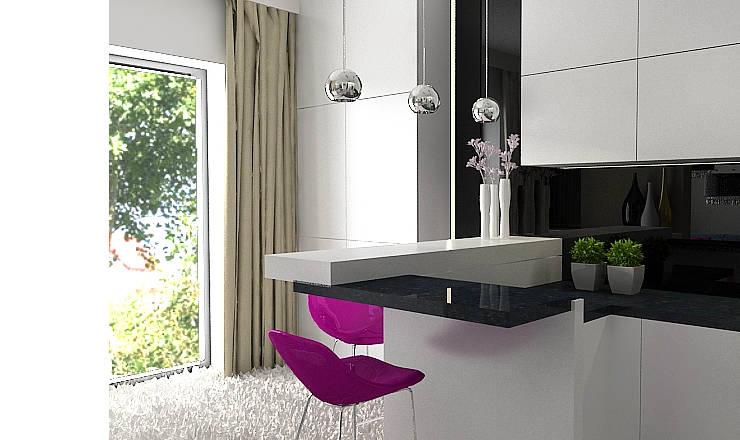 Cocinas de estilo moderno de Projektowanie wnętrz Berenika Szewczyk Moderno