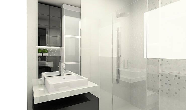 Modern bathroom by Projektowanie wnętrz Berenika Szewczyk Modern