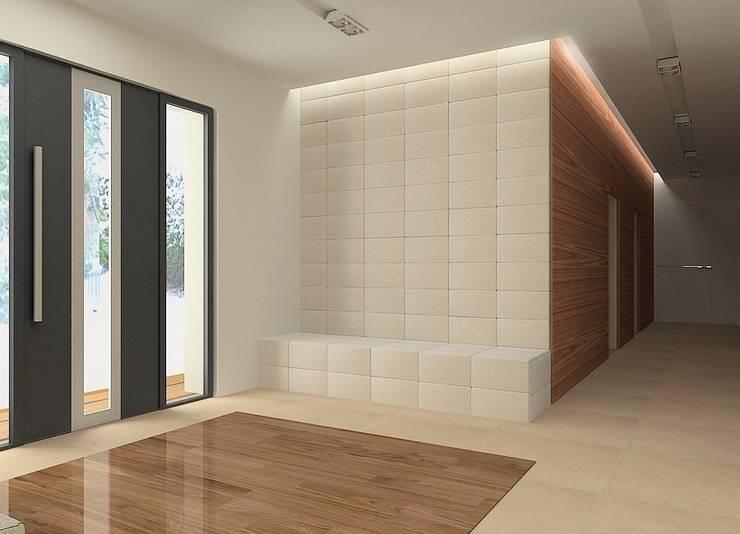 Projekt wnętrza domu w Łodzi: styl , w kategorii Korytarz, przedpokój zaprojektowany przez Projektowanie wnętrz Berenika Szewczyk