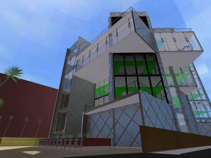 Co-Working R-22: Edificios de Oficinas de estilo  por Estudio Ideas