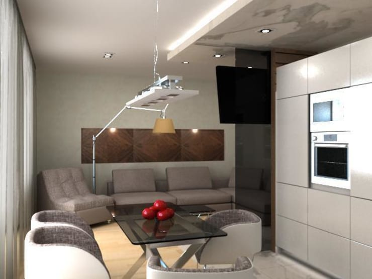 3-х комнатная квартира в ЖК <q>Балтийская Жемчужина</q>: Гостиная в . Автор – DEMARKA