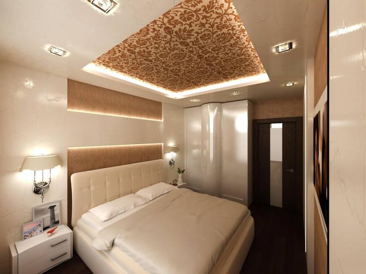 """3-х комнатная квартира в ЖК """"Балтийская Жемчужина"""": Спальни в . Автор – DEMARKA"""