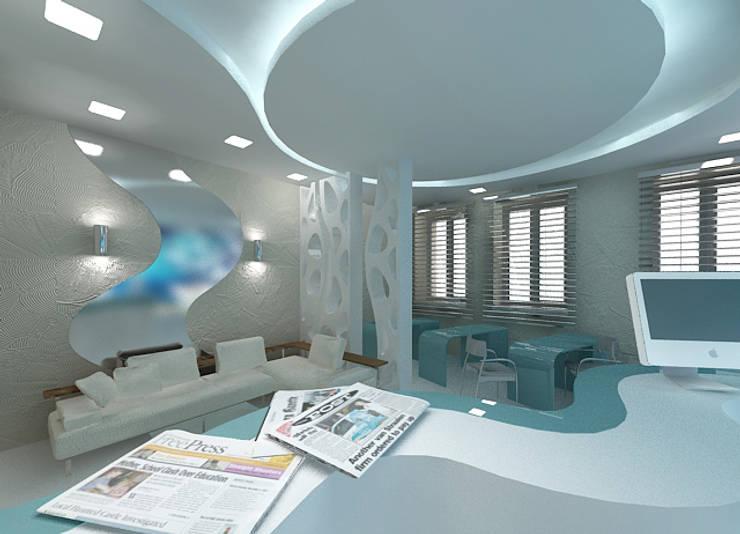 Дизайн интерьера офиса туристической компании: Рабочие кабинеты в . Автор – DEMARKA