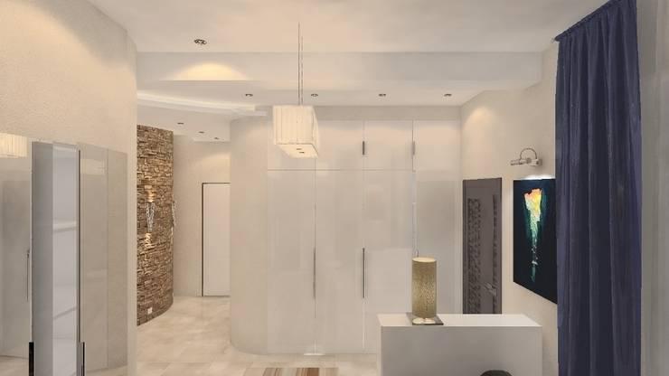 Дизайн-проект интерьера загородного дома в Кондакопшино: Коридор и прихожая в . Автор – DEMARKA