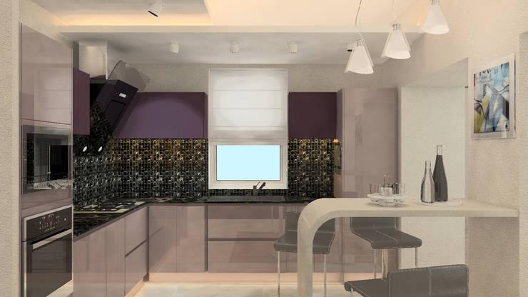 Дизайн-проект интерьера загородного дома в Кондакопшино: Кухни в . Автор – DEMARKA