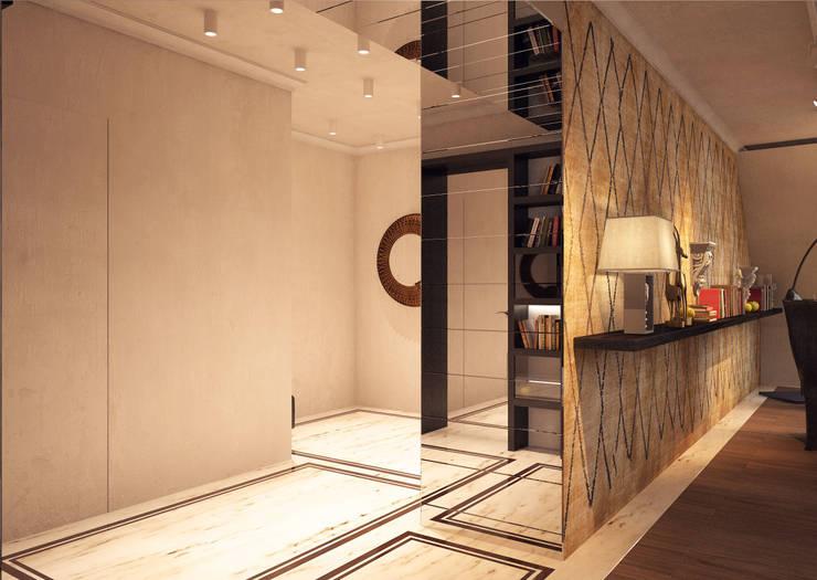 Дизайн-проект 5-комнатной квартиры в Петергофе: Коридор и прихожая в . Автор – DEMARKA