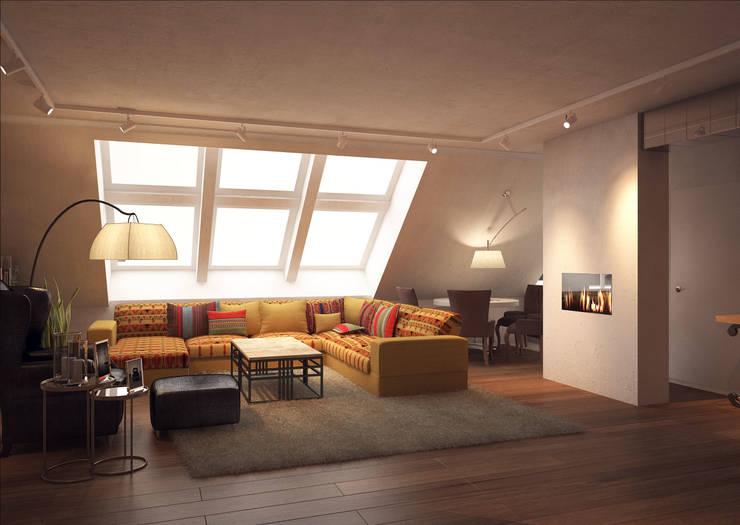 DEMARKA: eklektik tarz tarz Oturma Odası