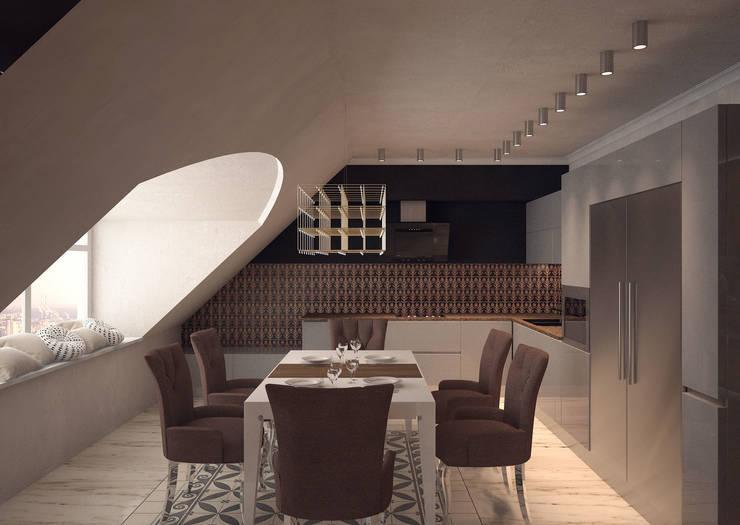 Дизайн-проект 5-комнатной квартиры в Петергофе: Столовые комнаты в . Автор – DEMARKA