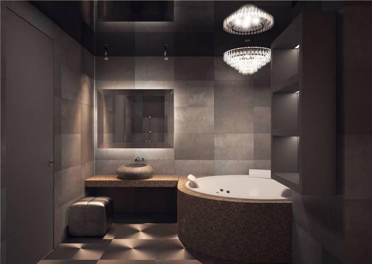 Дизайн-проект 5-комнатной квартиры в Петергофе: Ванные комнаты в . Автор – DEMARKA