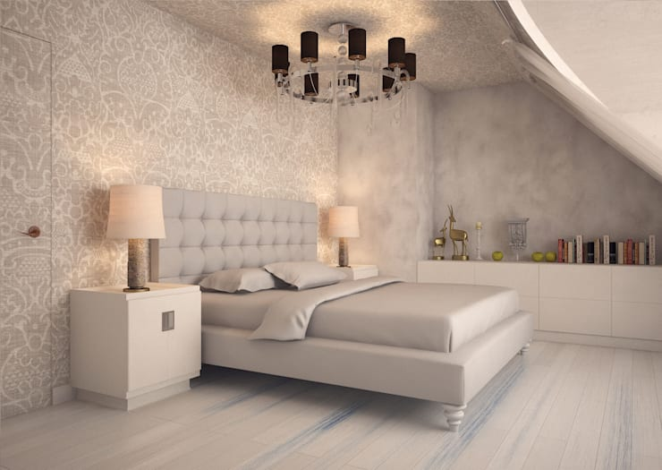 DEMARKA: eklektik tarz tarz Yatak Odası