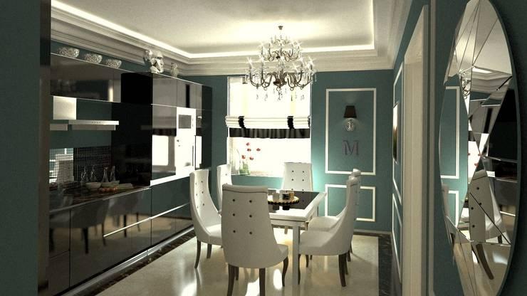 Дизайн интерьера квартиры в стиле «арт-деко»: Столовые комнаты в . Автор – DEMARKA