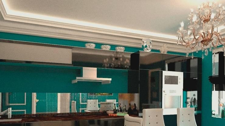 Дизайн интерьера квартиры в стиле «арт-деко»: Кухни в . Автор – DEMARKA