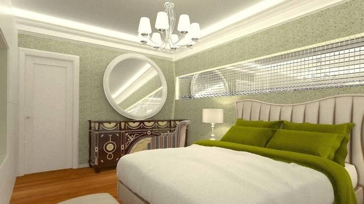 Дизайн интерьера квартиры в стиле «арт-деко»: Спальни в . Автор – DEMARKA