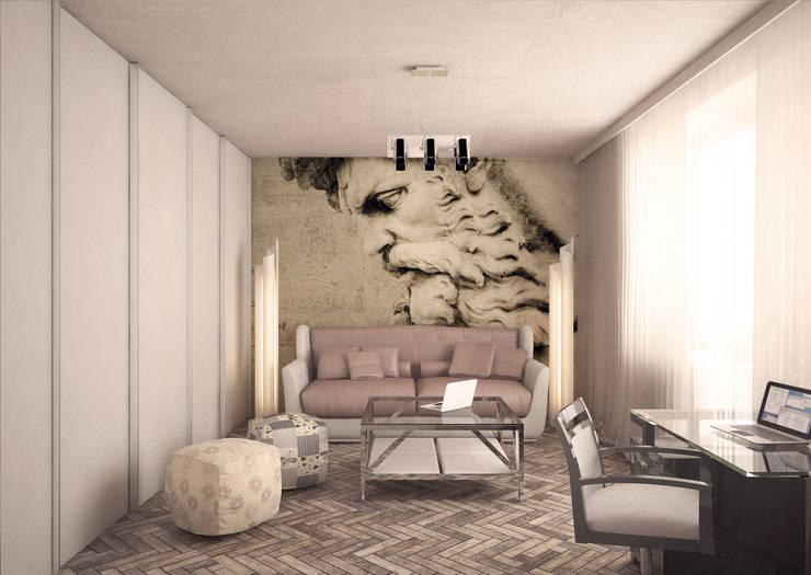 Дизайн-проект 5-комнатной квартиры в Петергофе: Рабочие кабинеты в . Автор – DEMARKA