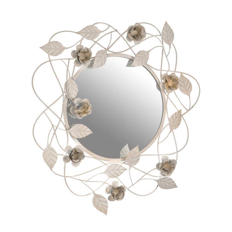 HEYDECO – Güllü Metal Ayna: minimalist tarz , Minimalist