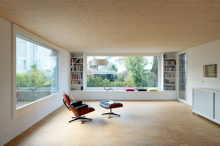 modern Living room by HKK Architekten Partner AG