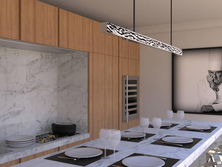 Cuisine moderne dans un appartement haussmannien von Xavier ...