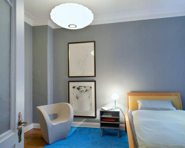 Umgestaltung einer Etagenwohnung in HH:  Schlafzimmer von Stockhausen Fotodesign