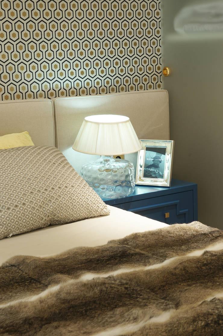 Sypialnia - dodatki: styl , w kategorii Sypialnia zaprojektowany przez SAFRANOW