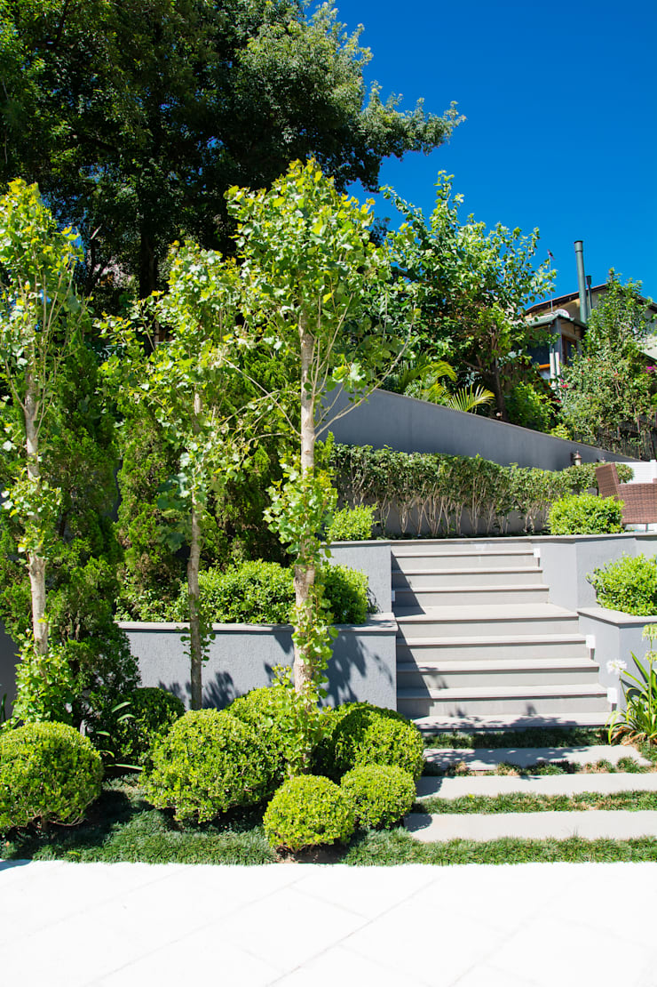 Exuberante: Jardins  por Loro Arquitetura e Paisagismo,