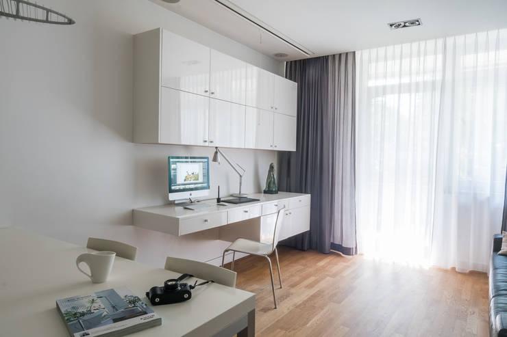 Żoliborski minimalizm: styl , w kategorii Salon zaprojektowany przez Jacek Tryc-wnętrza